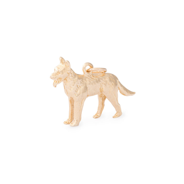 German Shepard 14k Gold Dog Charm