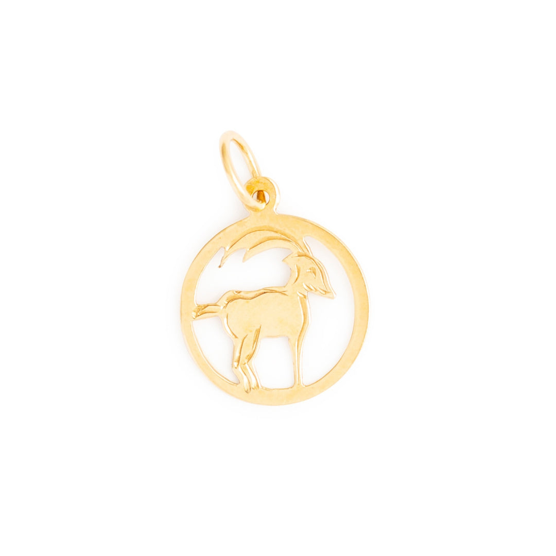English Aries 9k Gold Zodiac Charm