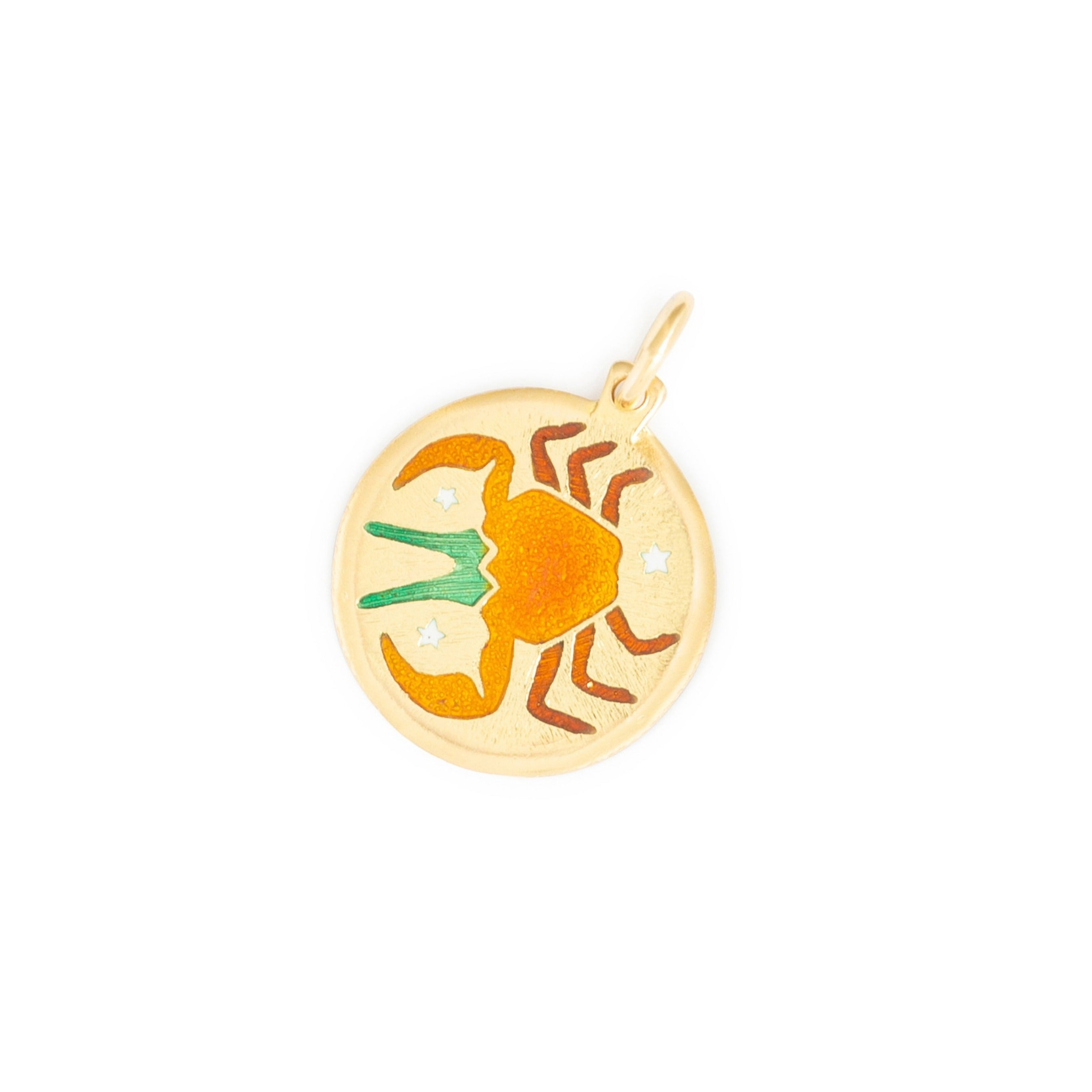 Cancer 18k Gold and Enamel Zodiac Charm