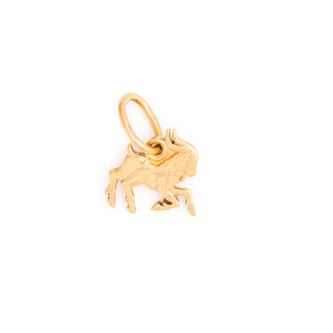 Russian 14K Rose Gold Capricorn Figure Zodiac Charm