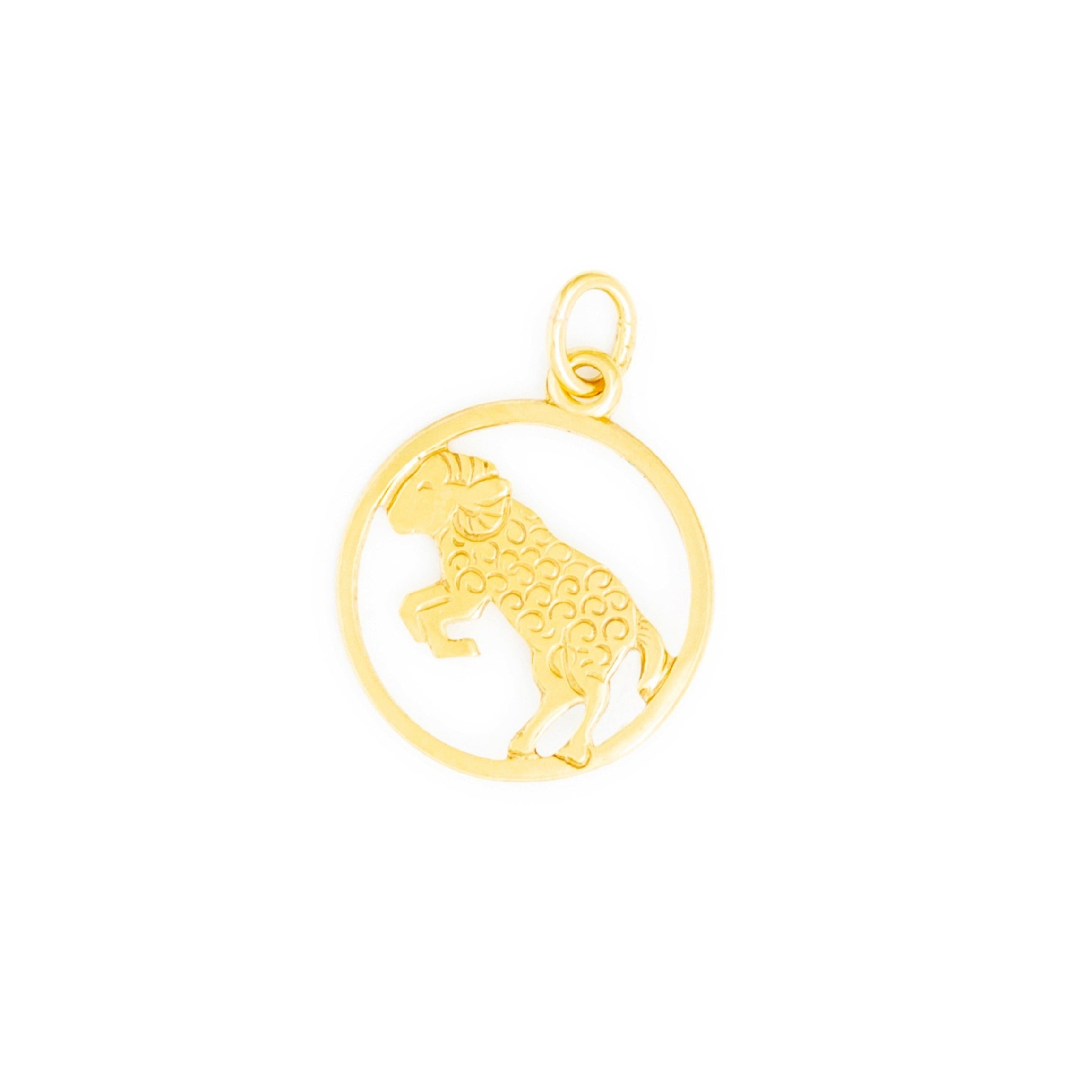 Aries 9k Gold Zodiac Charm