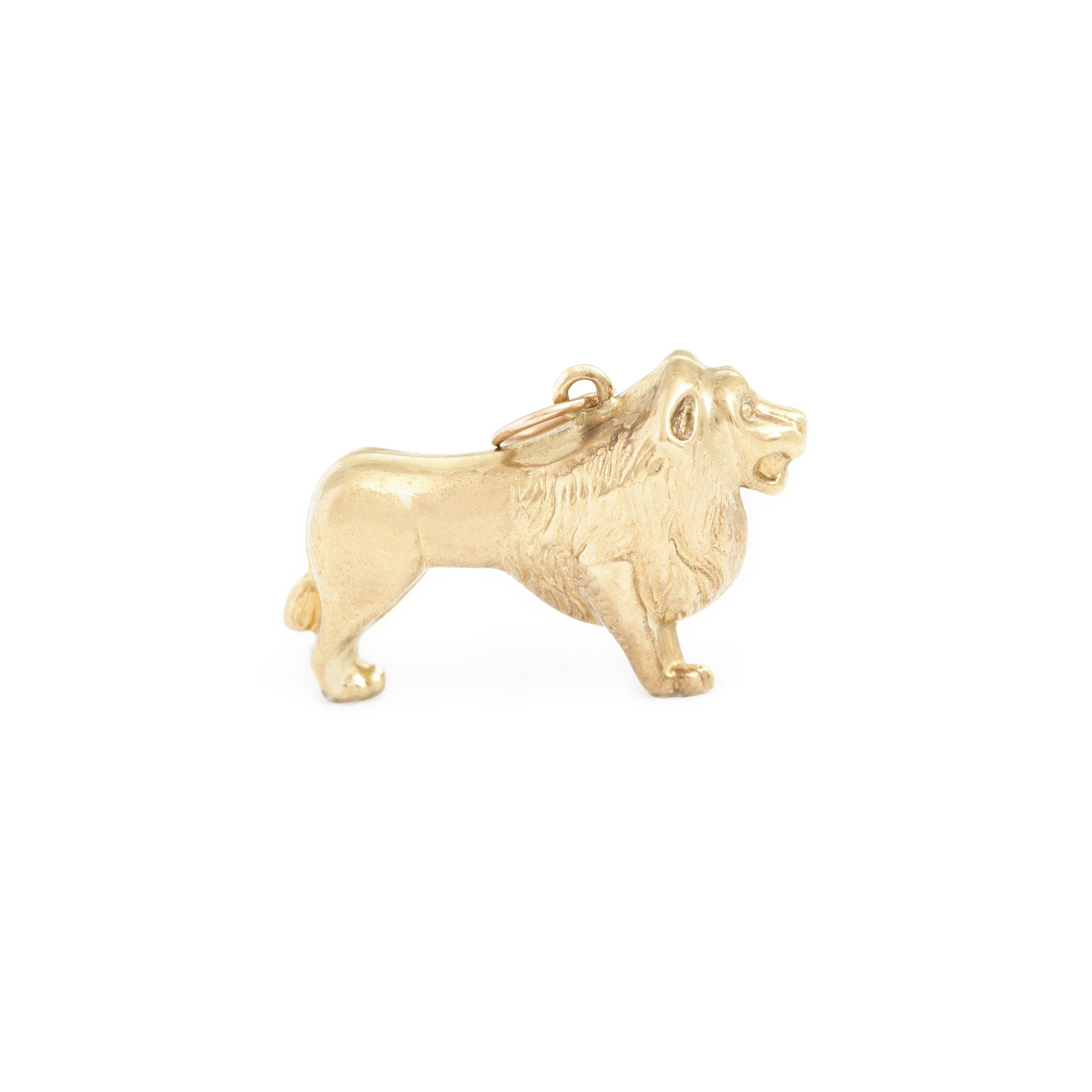 English Leo 9k Gold Lion Zodiac Charm