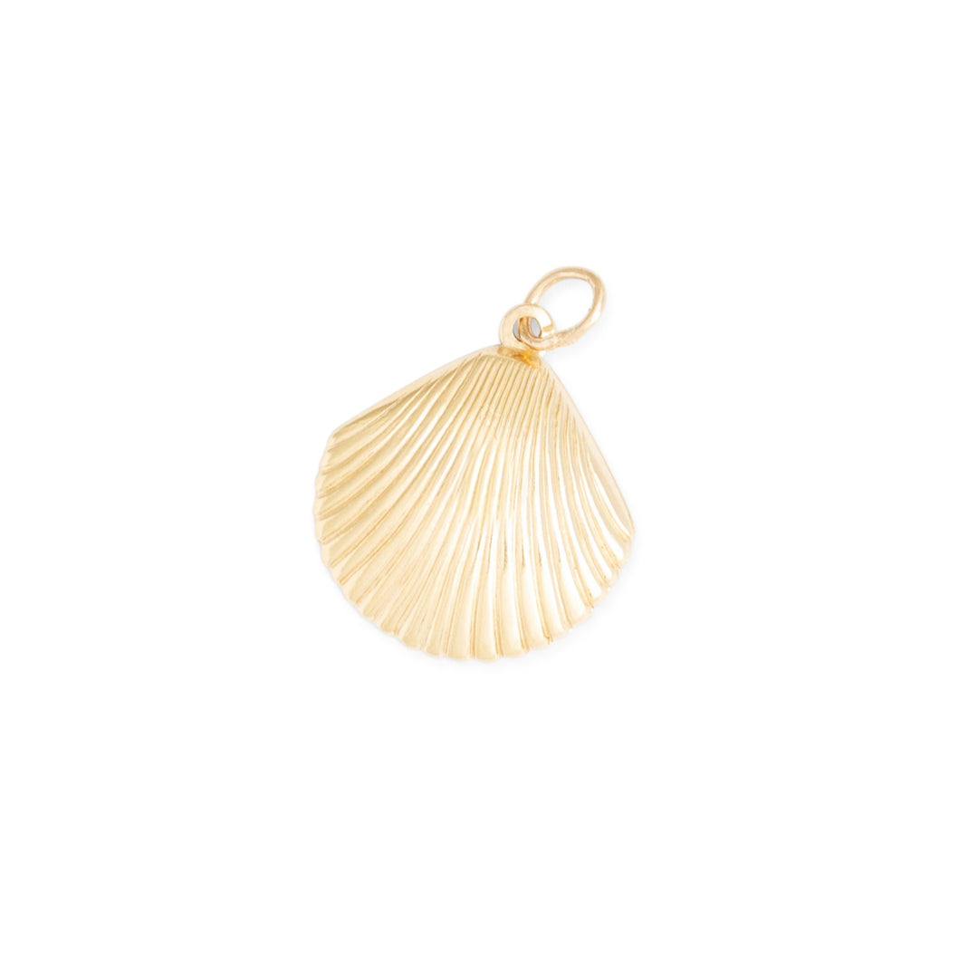 Seashell 14k Yellow Gold Charm