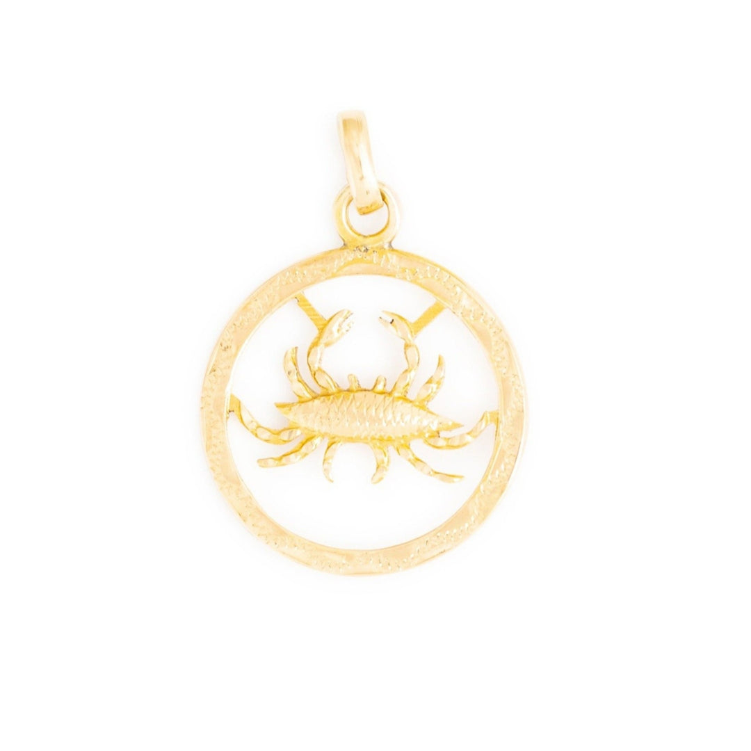 Cancer 14k Gold Zodiac Charm