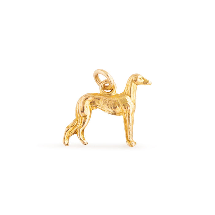 Greyhound 9K Gold Dog Charm