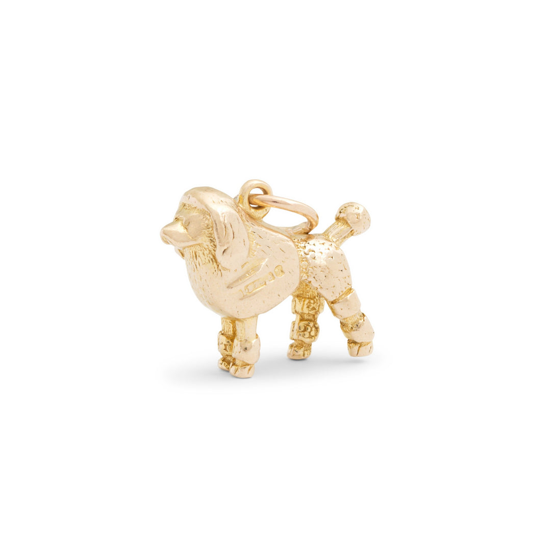English French Poodle 9k Gold Dog Charm
