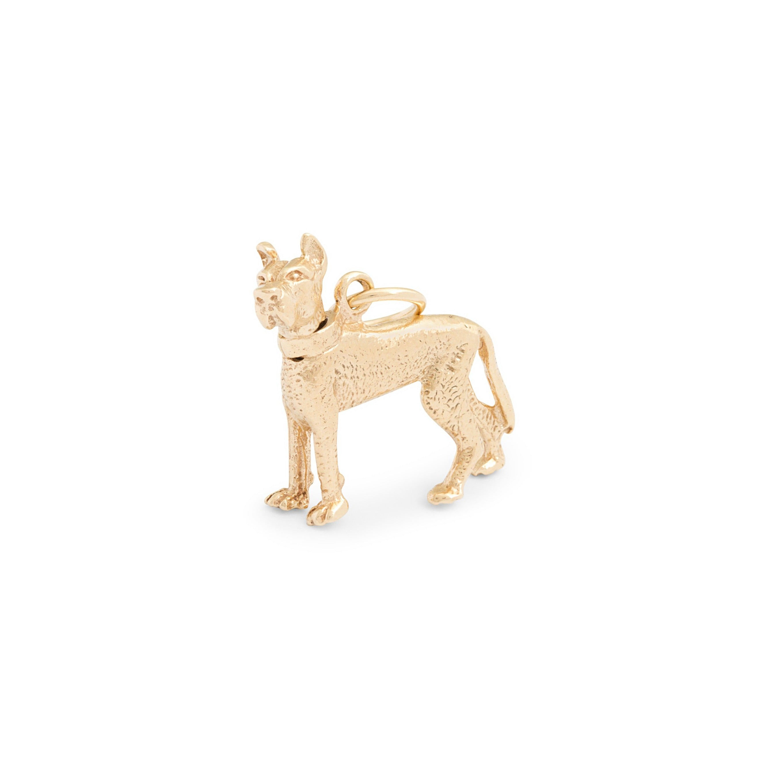 Great Dane Moveable 14K Gold Dog Charm