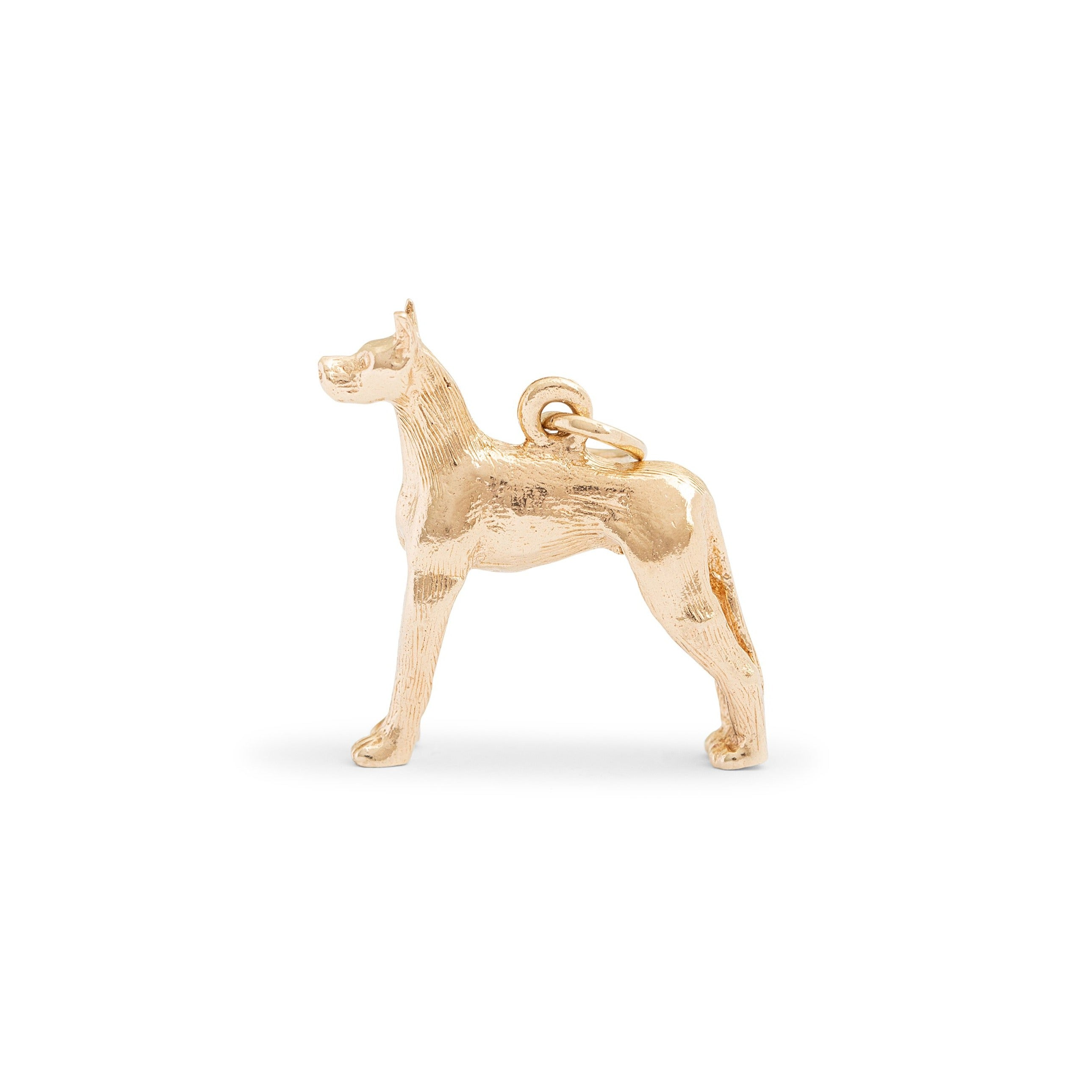 Great Dane 10K Gold Dog Charm