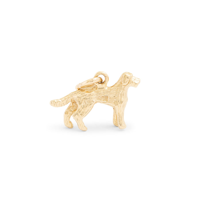 Retriever 14K Gold Dog Charm