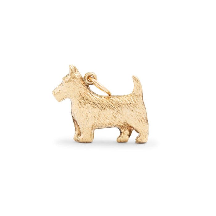 English Scottie Terrier 9K Gold Dog Charm