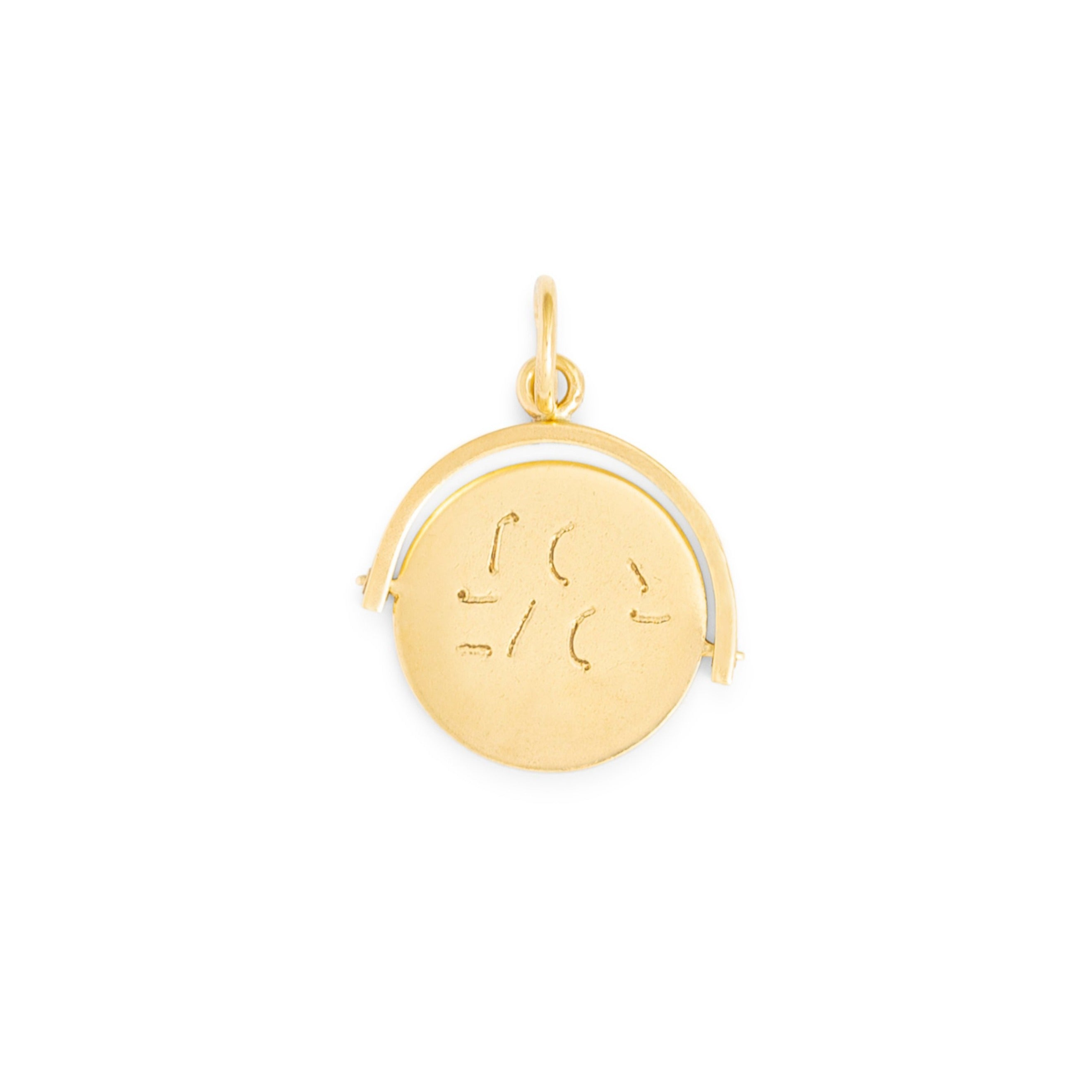 "English ""I LOVE YOU"" Spinner 9k Gold Charm"