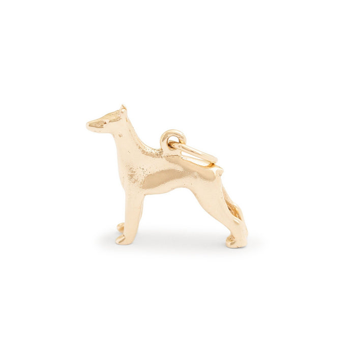 Doberman Pinscher 10K Gold Dog Charm