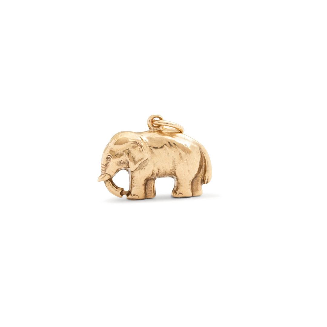 Elephant 9k Yellow Gold Charm