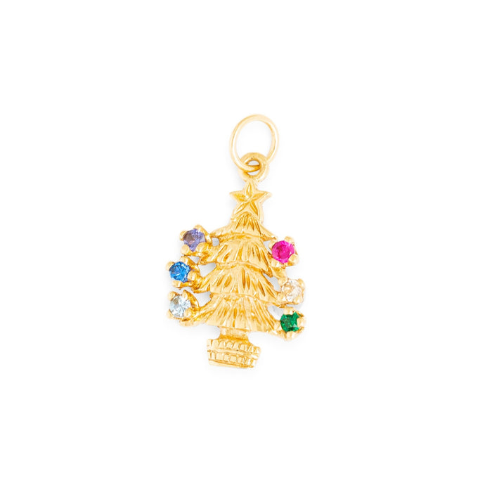 Christmas Tree 10K Gold Charm