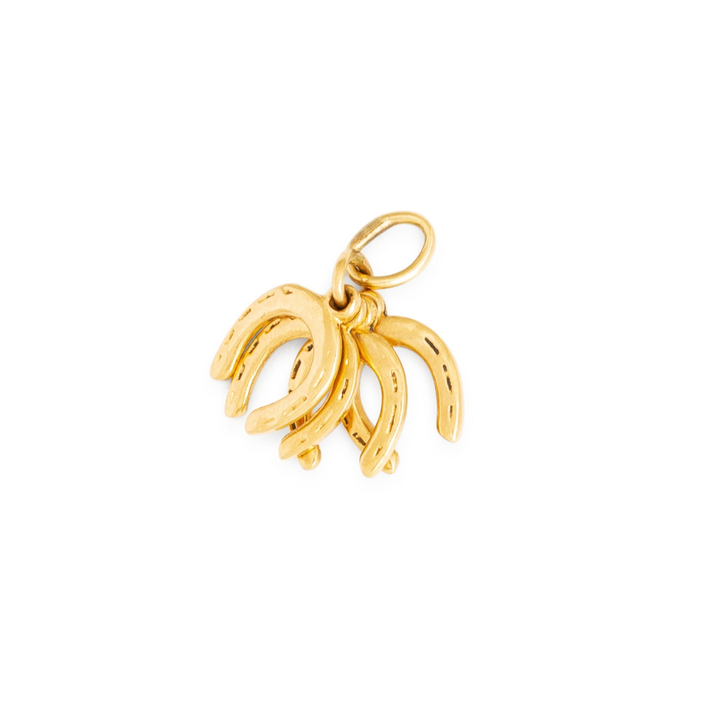 Four Horseshoe 10k Gold Charm