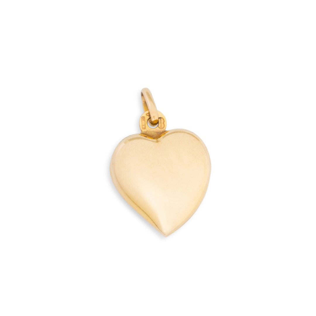 Puffy Witches Heart 9K Gold Charm