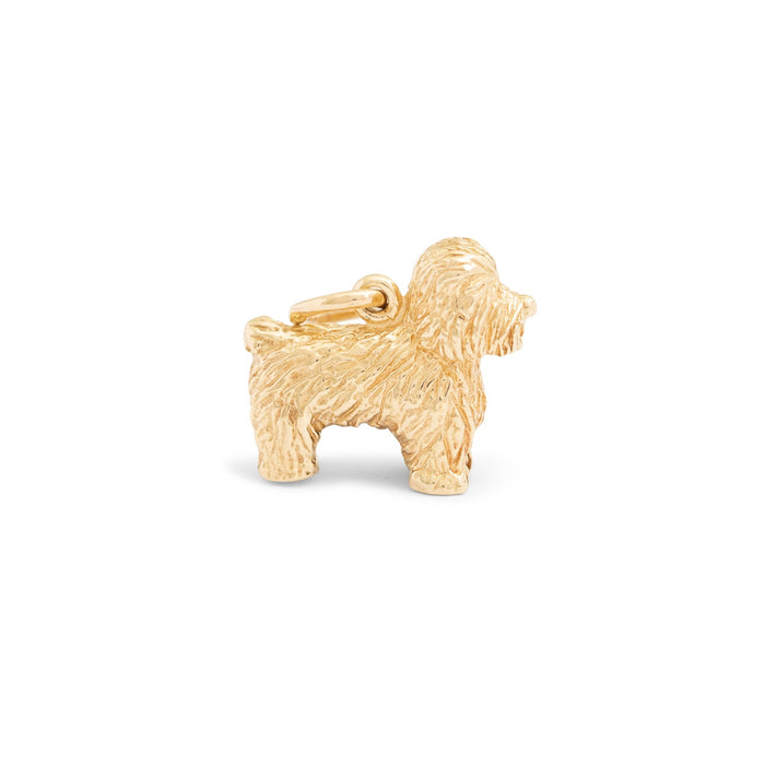 Bichon 14k Gold Dog Charm