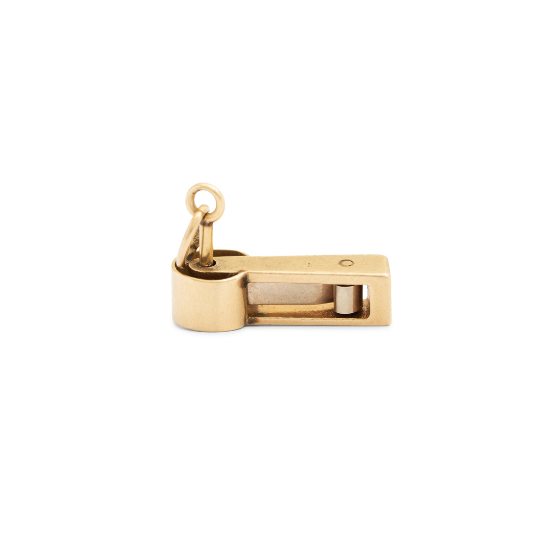 Movable Noisemaker 14k Yellow Gold Charm