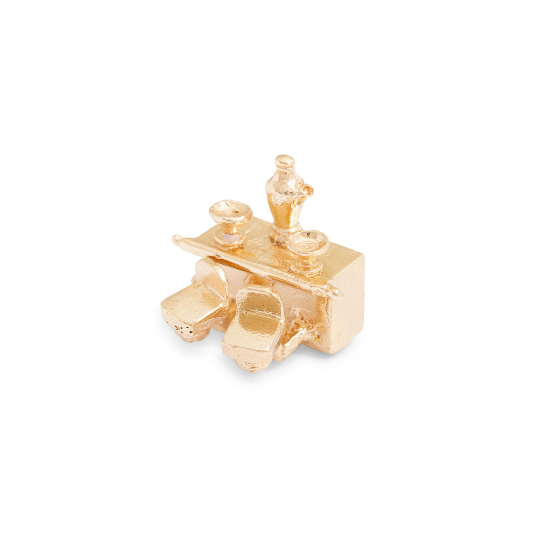 Movable Bar 14k Gold Charm