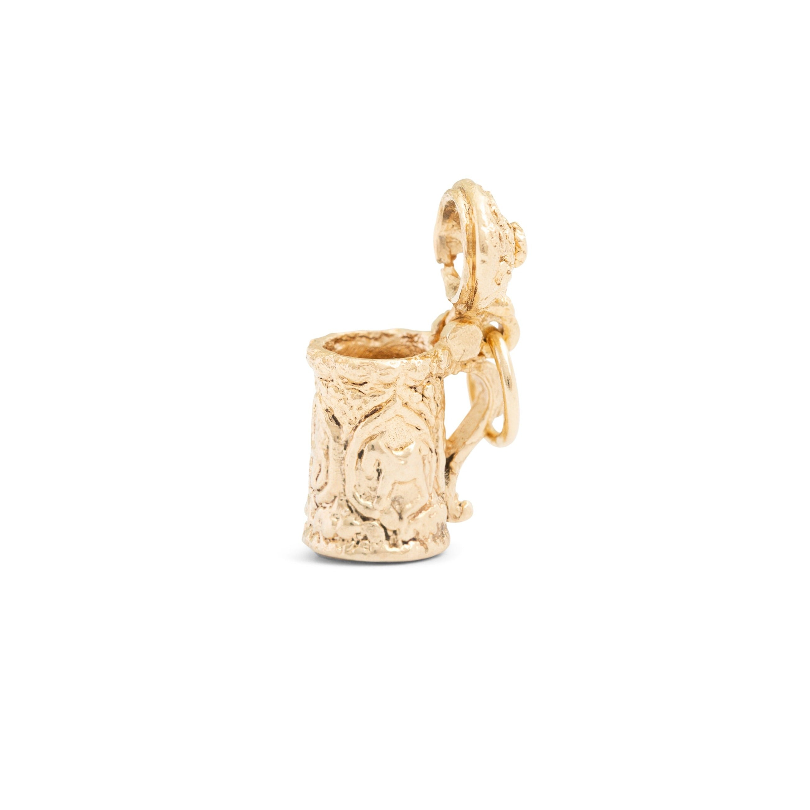 Movable Beer Stein 14k Gold Charm