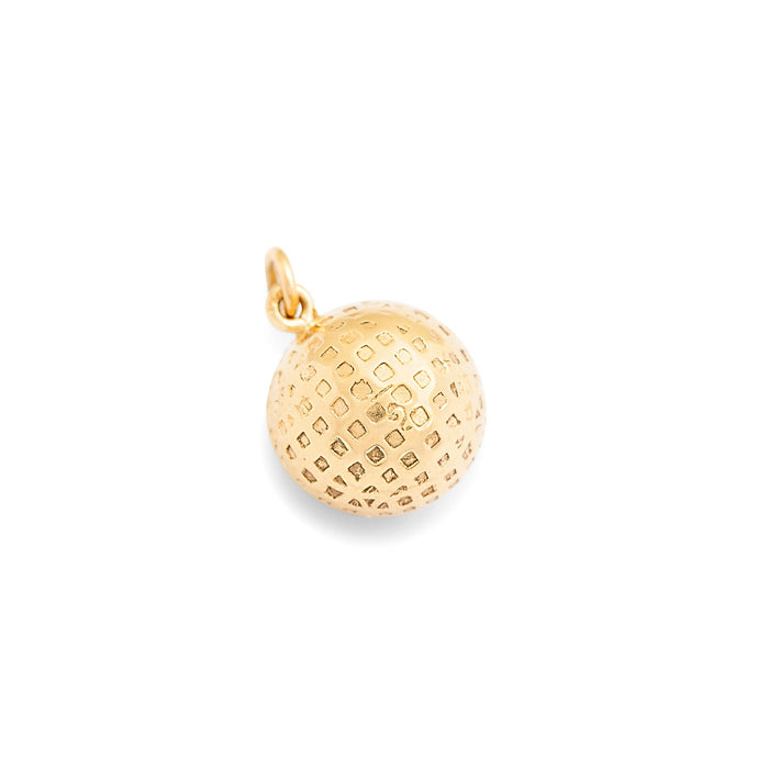 Golf Ball 14k Gold Charm