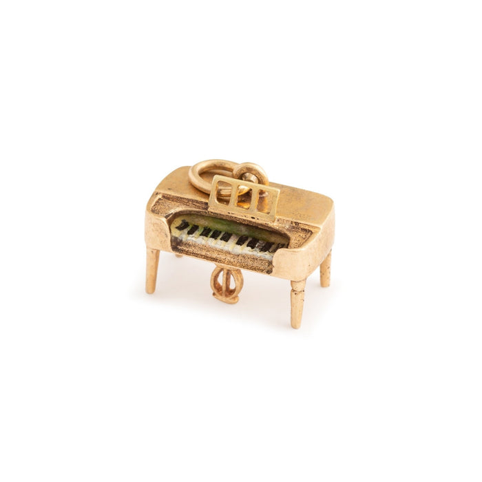 Upright Piano 14k Gold and Enamel Charm