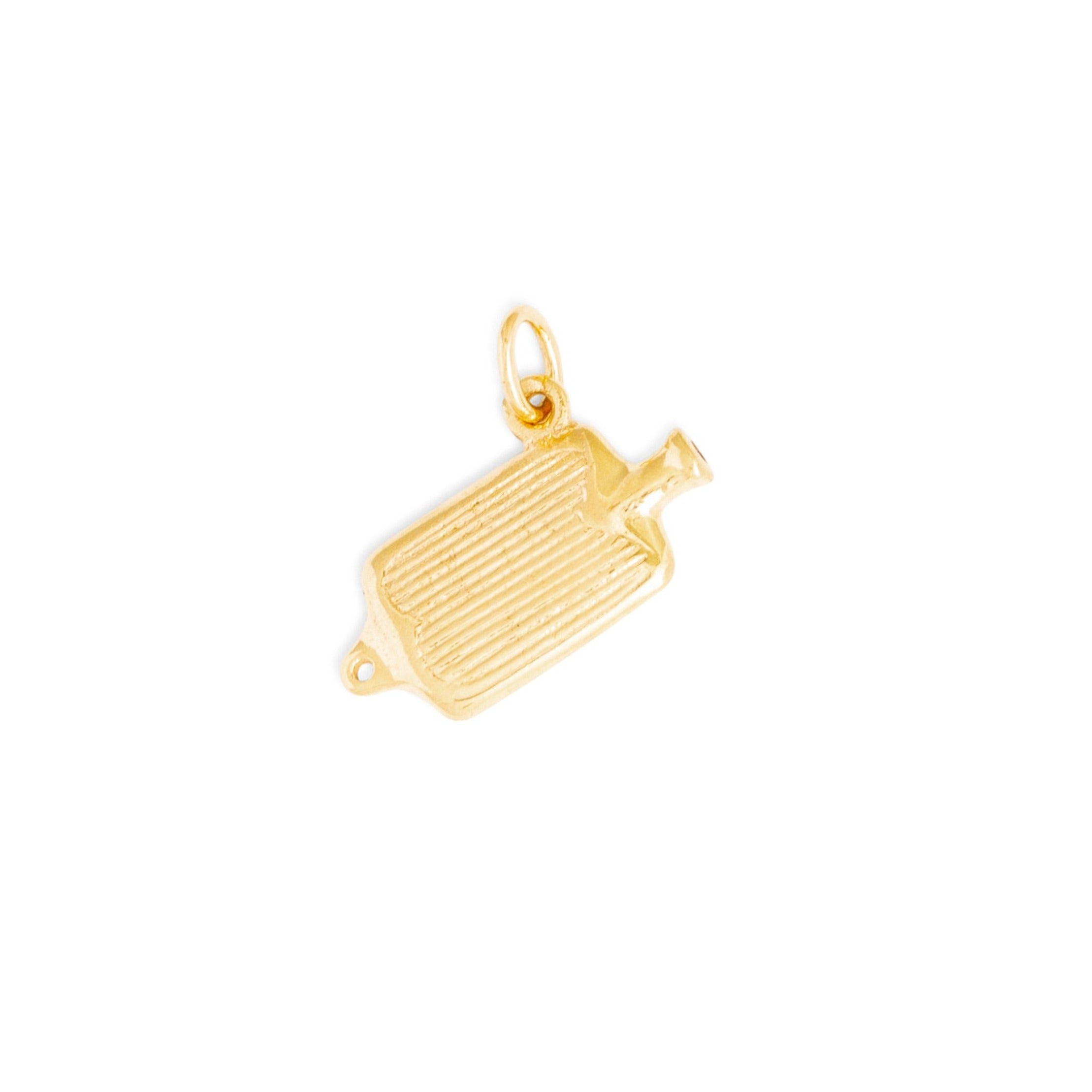 Hot Water Bottle 14k Gold Charm