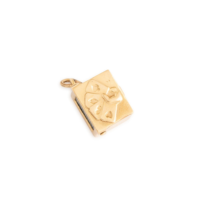 Movable 14k Gold Deck Of Cards Charm