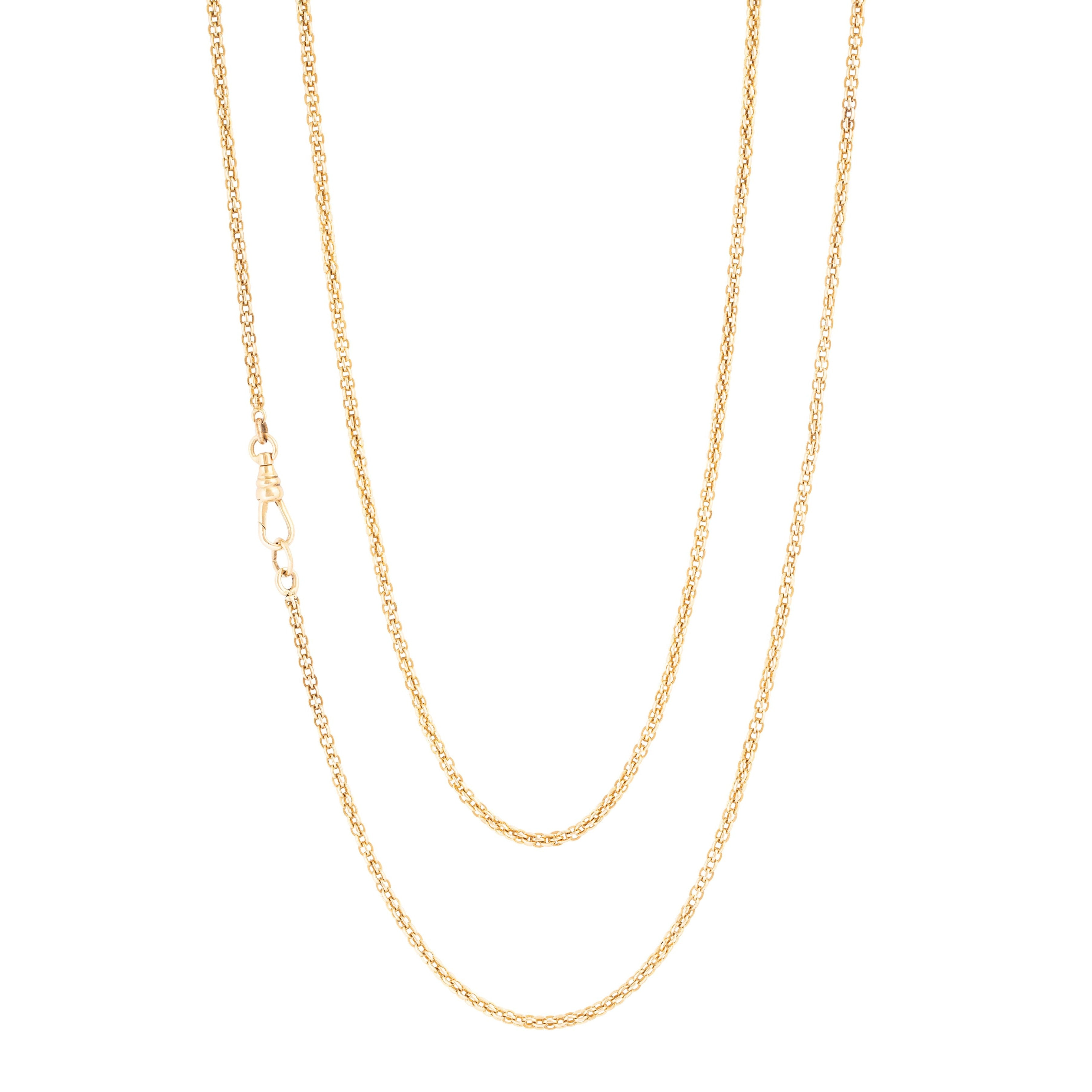 "Long 14k Gold 47"" Chain Necklace"