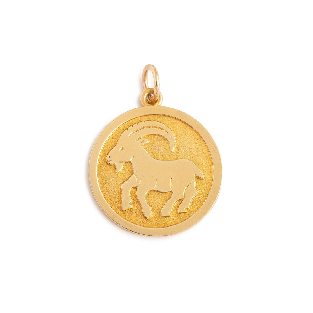 English Capricorn 9K Gold Zodiac Charm
