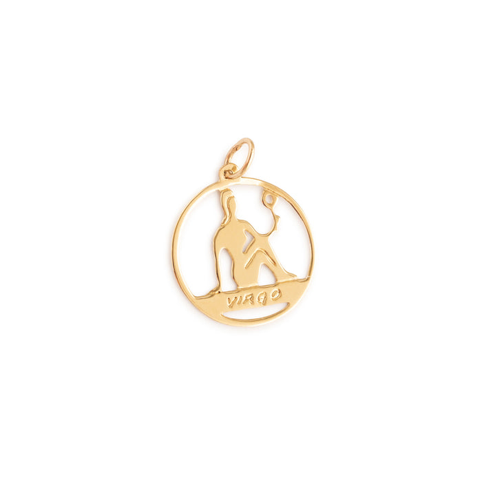 Virgo 14k Gold Open Zodiac Charm
