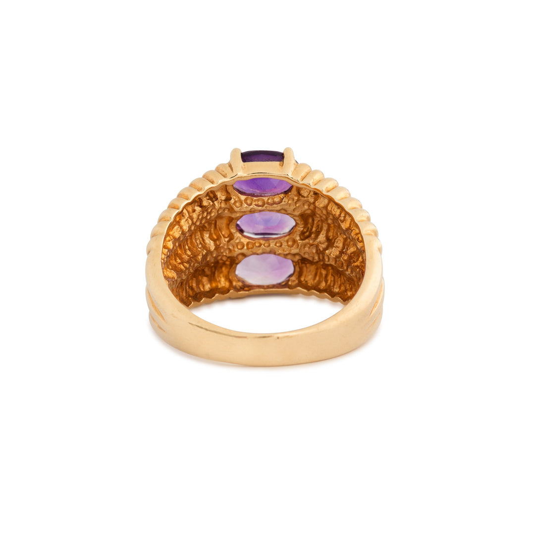 Amethyst Ombre and 10k Gold Ring
