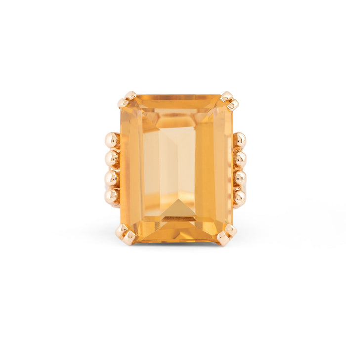 Citrine and 14k Gold Cocktail Ring