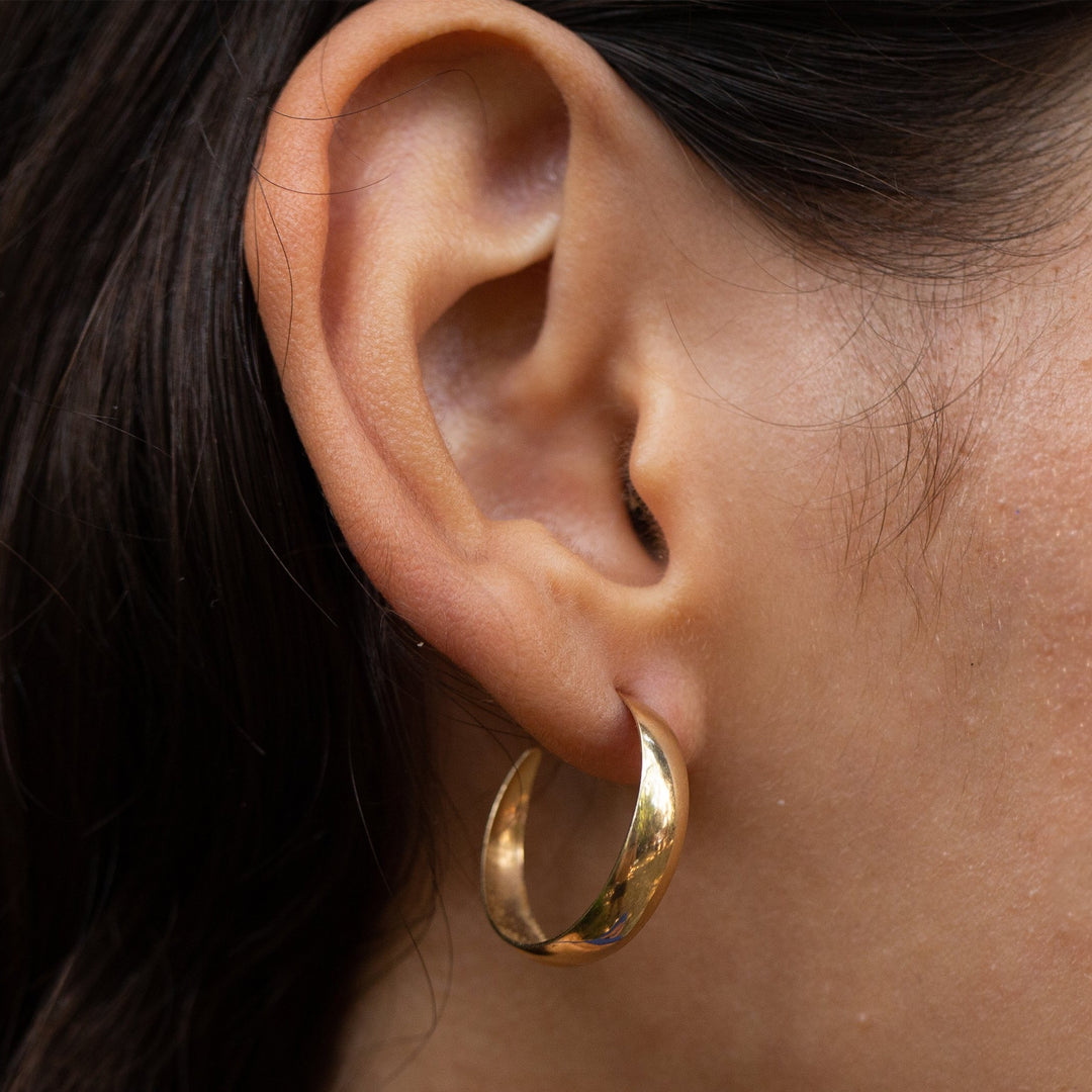 Open 14K Gold Hoop Earrings