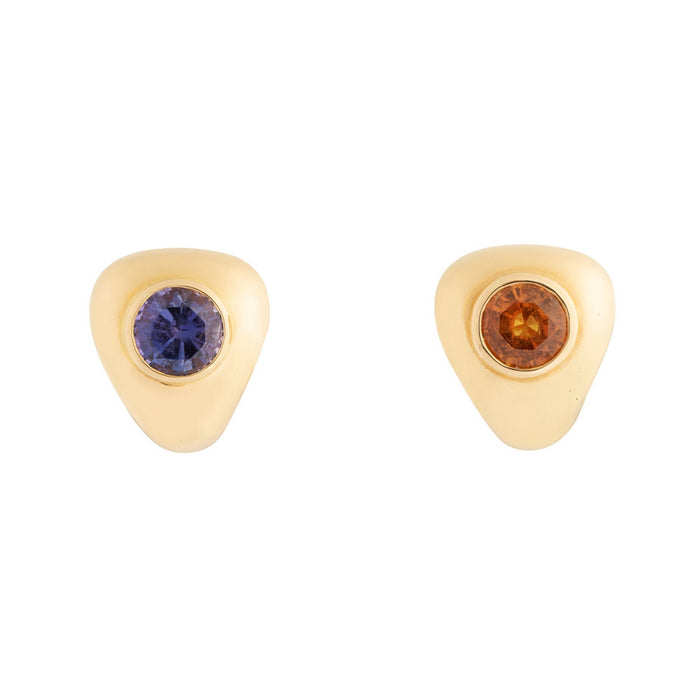 Poiray Amethyst and Citrine 18k Gold Earrings