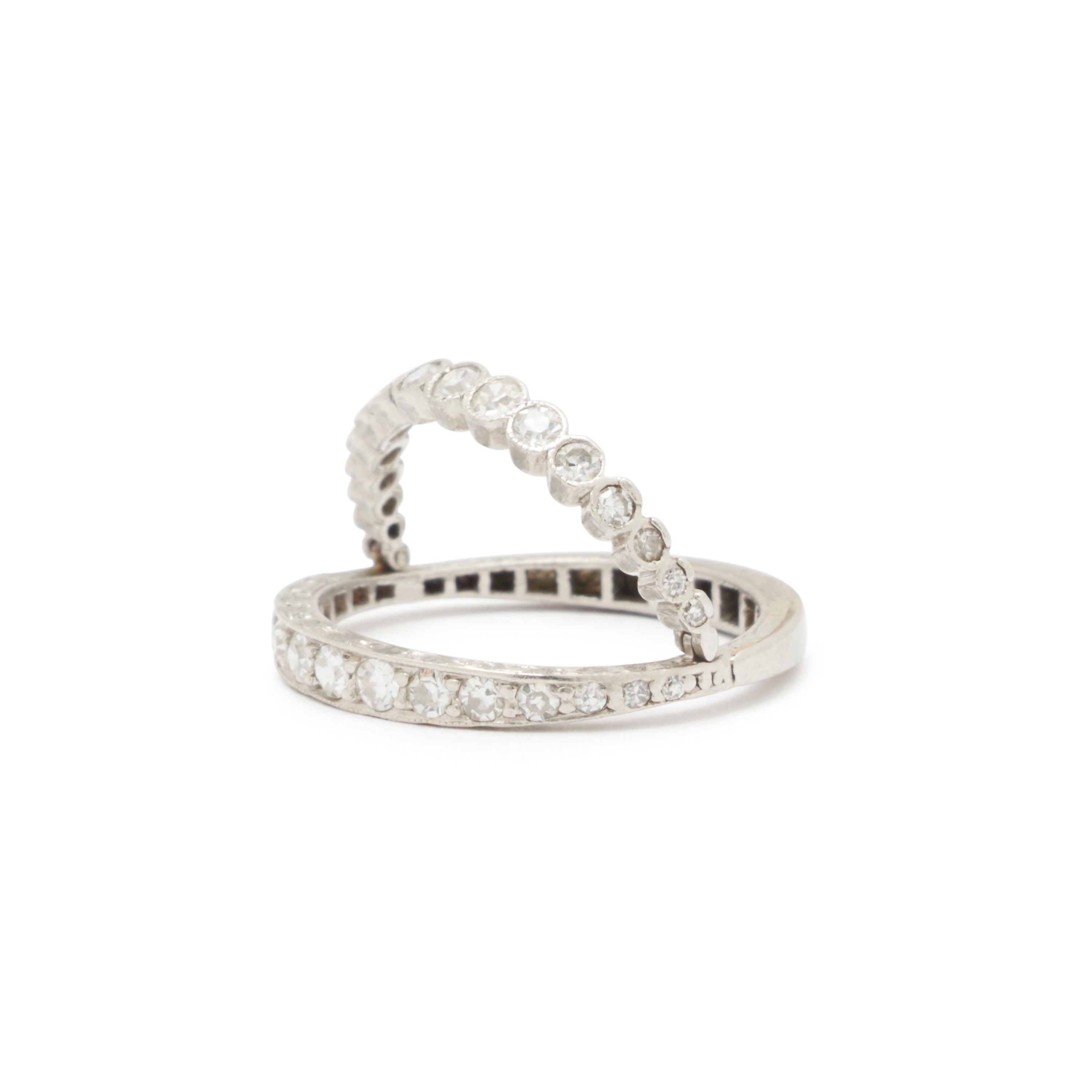 Art Deco Diamond And Platinum Flip Band