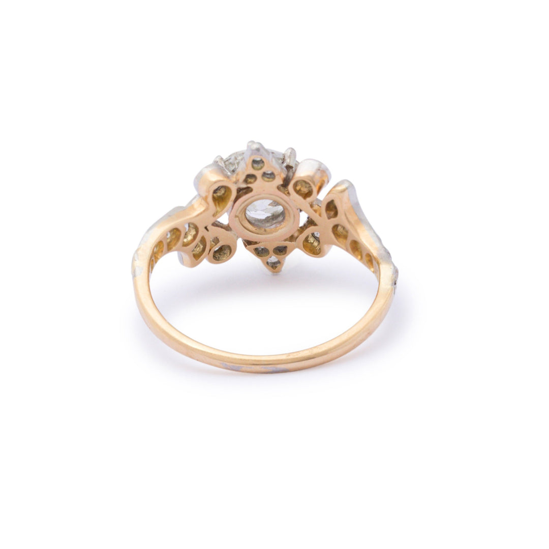 Early 20th Century Old European Cut Diamond Ring