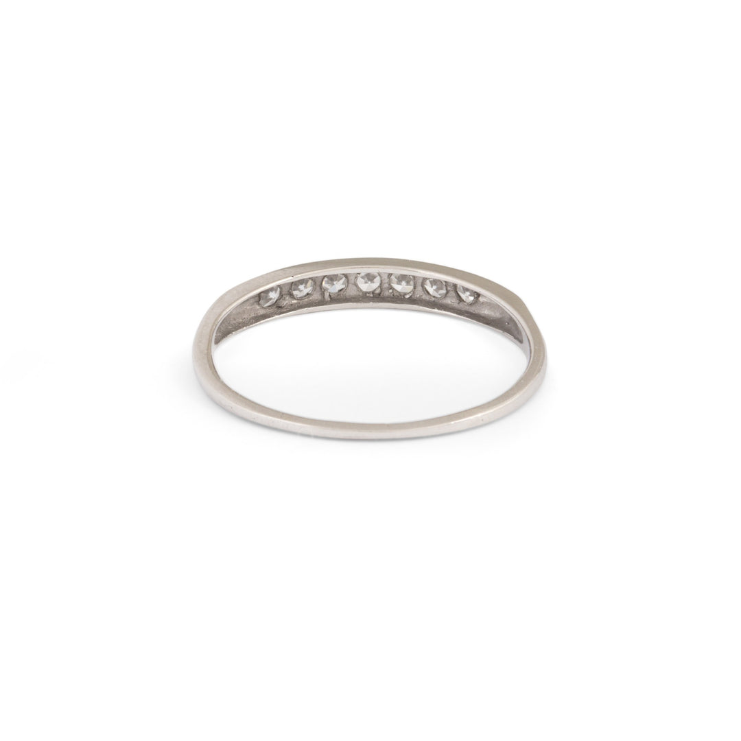 Platinum and Diamond Half Band Ring