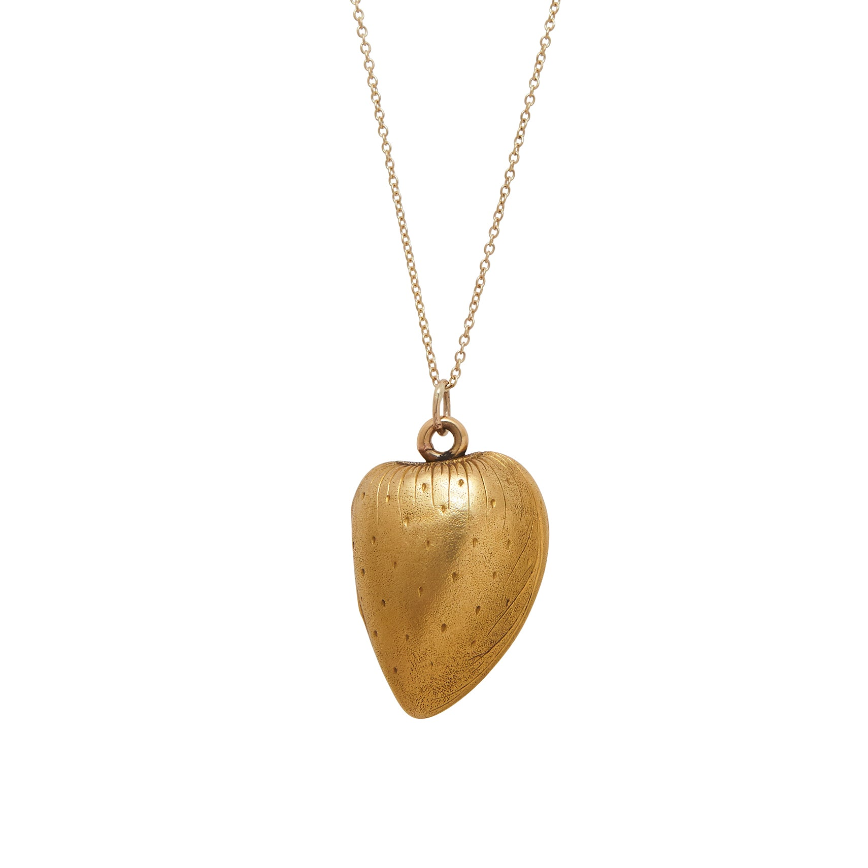 Victorian 18K Gold Nut Locket Necklace
