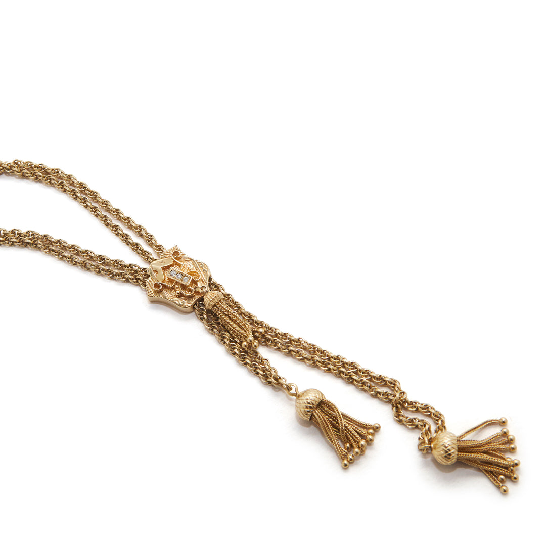 Victorian Tassel Slide Necklace