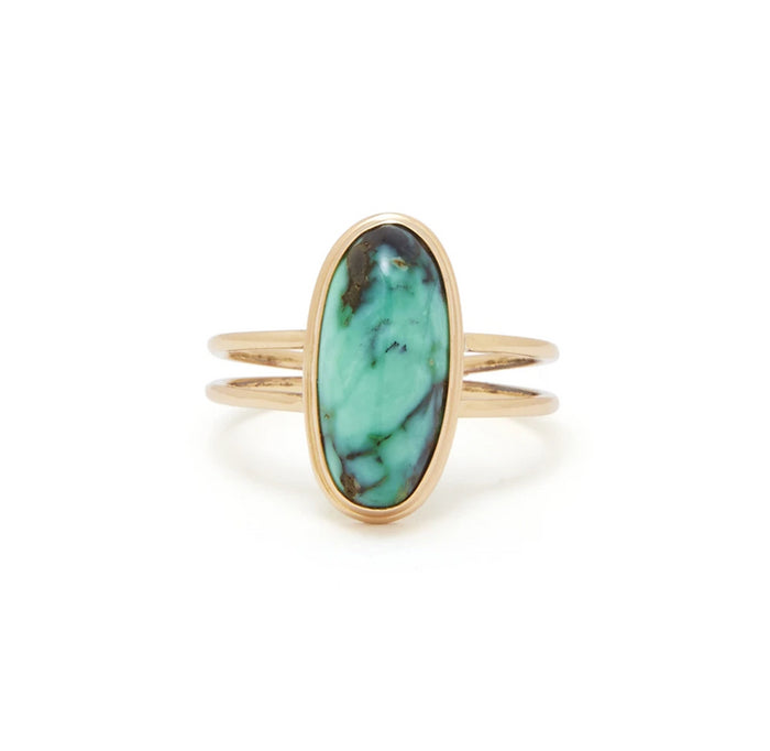 Turquoise And Yellow Gold Ring