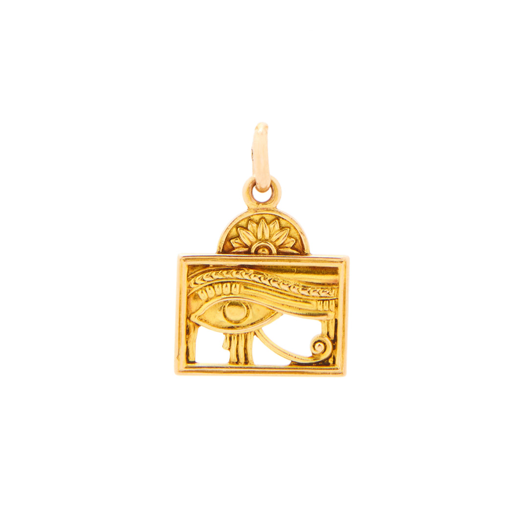 Egyptian Eye 14k Gold Charm