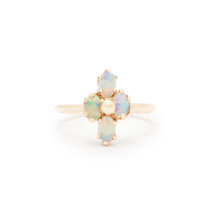 Four Opal And 14k Gold Ring