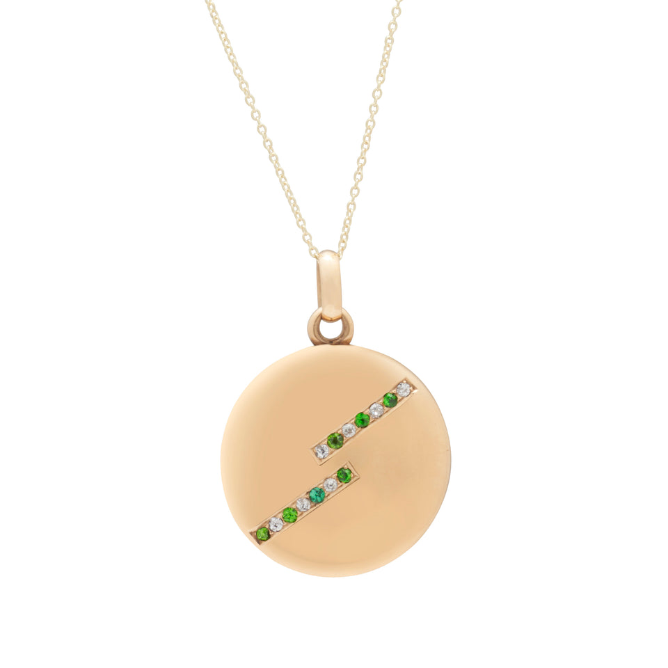 Art Deco Diamond And Demantoid 14k Gold Locket