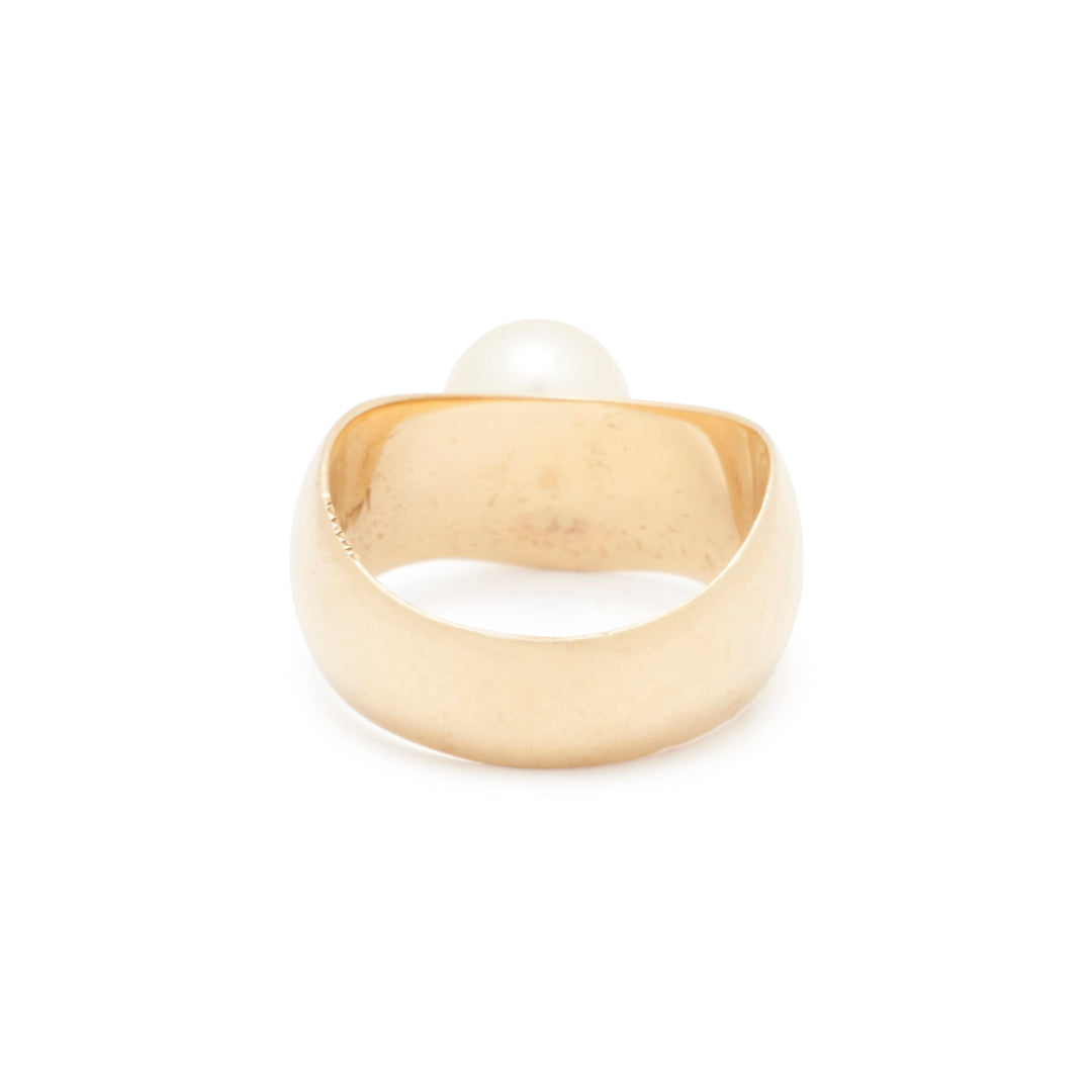 Pearl And 14k Gold Ring