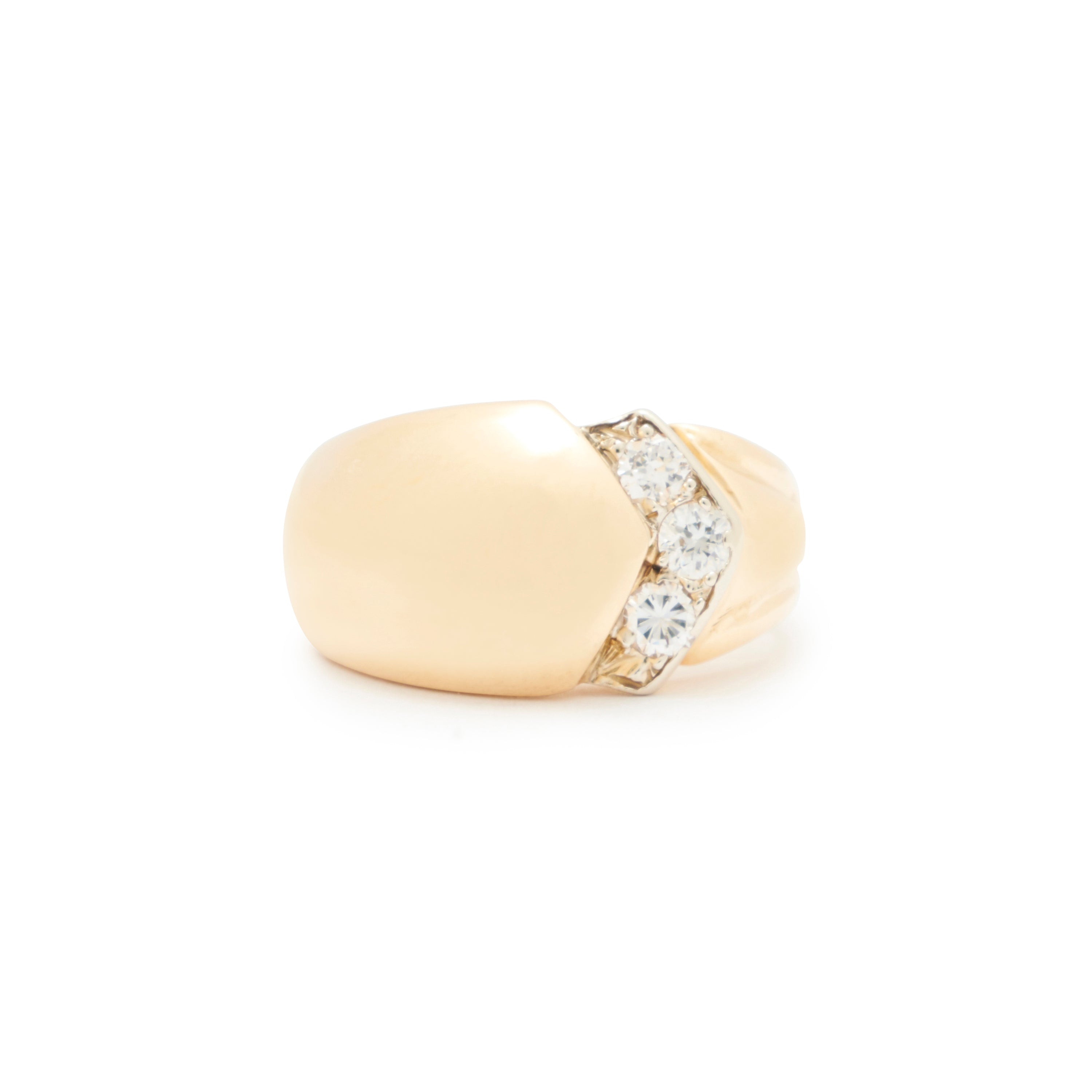 Diamond Dome And 14k Gold Ring