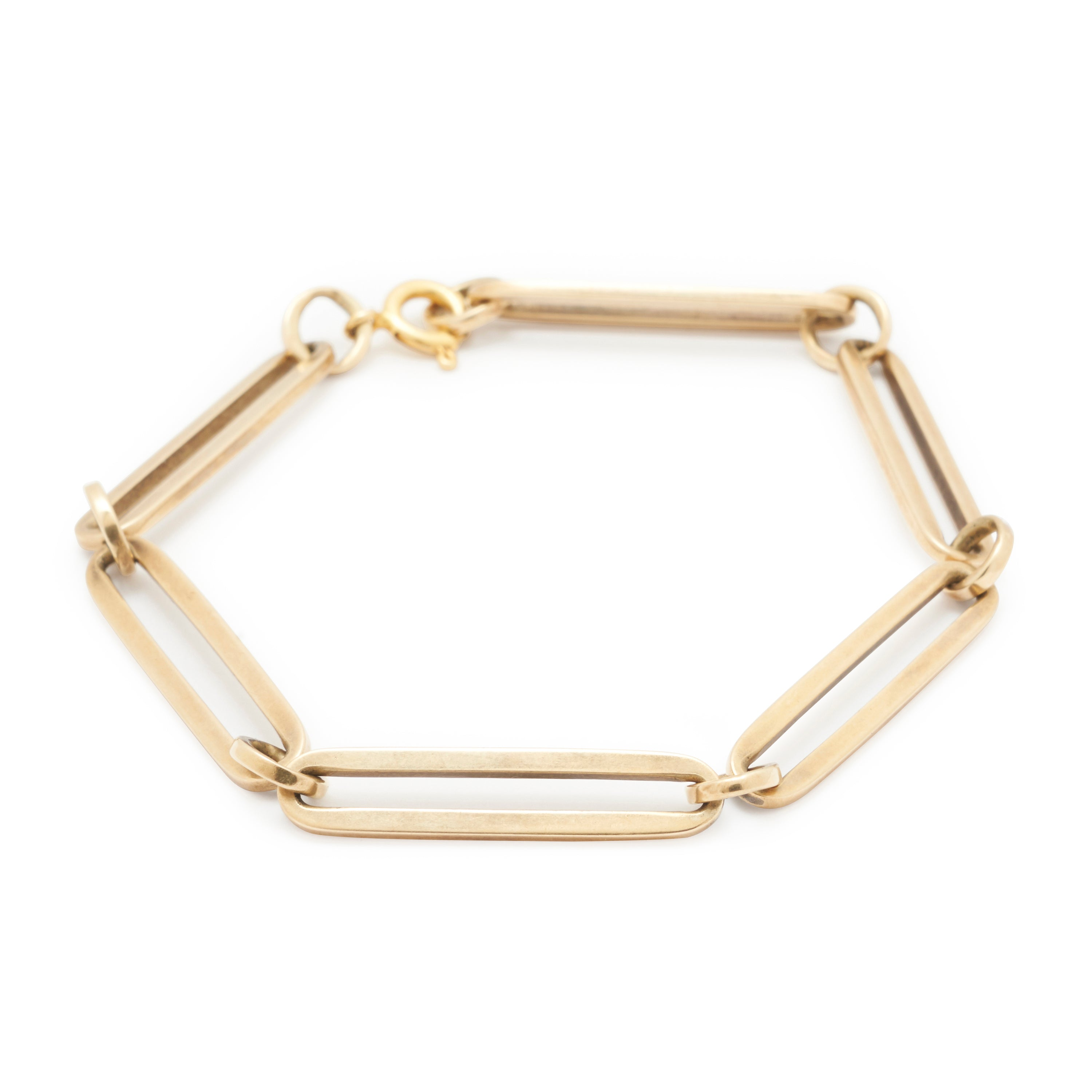 Elongated Link 18k Gold Bracelet