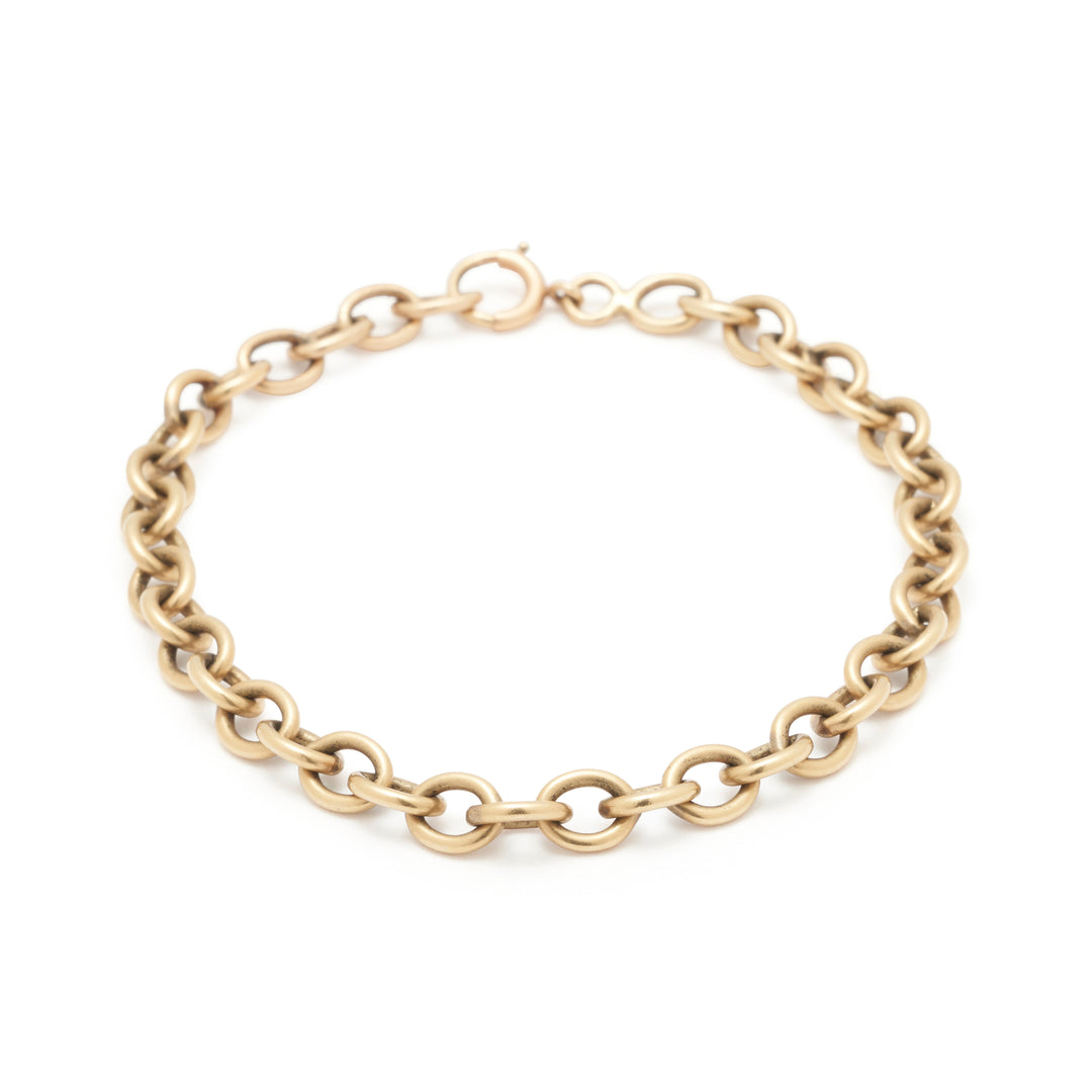 14k Yellow Gold Cable Chain Link Bracelet