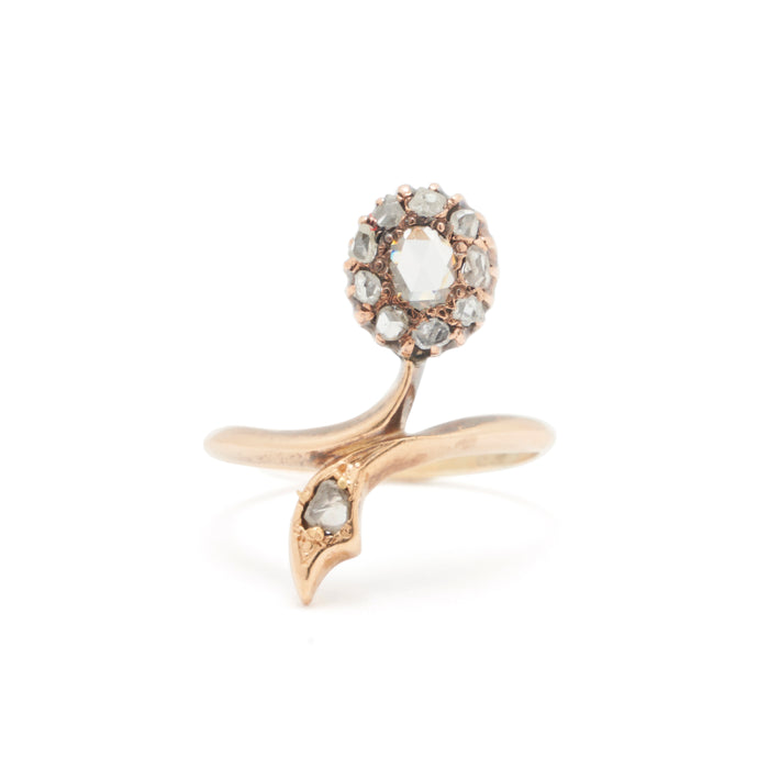Victorian Rose Cut Diamond And 14k Gold Ring