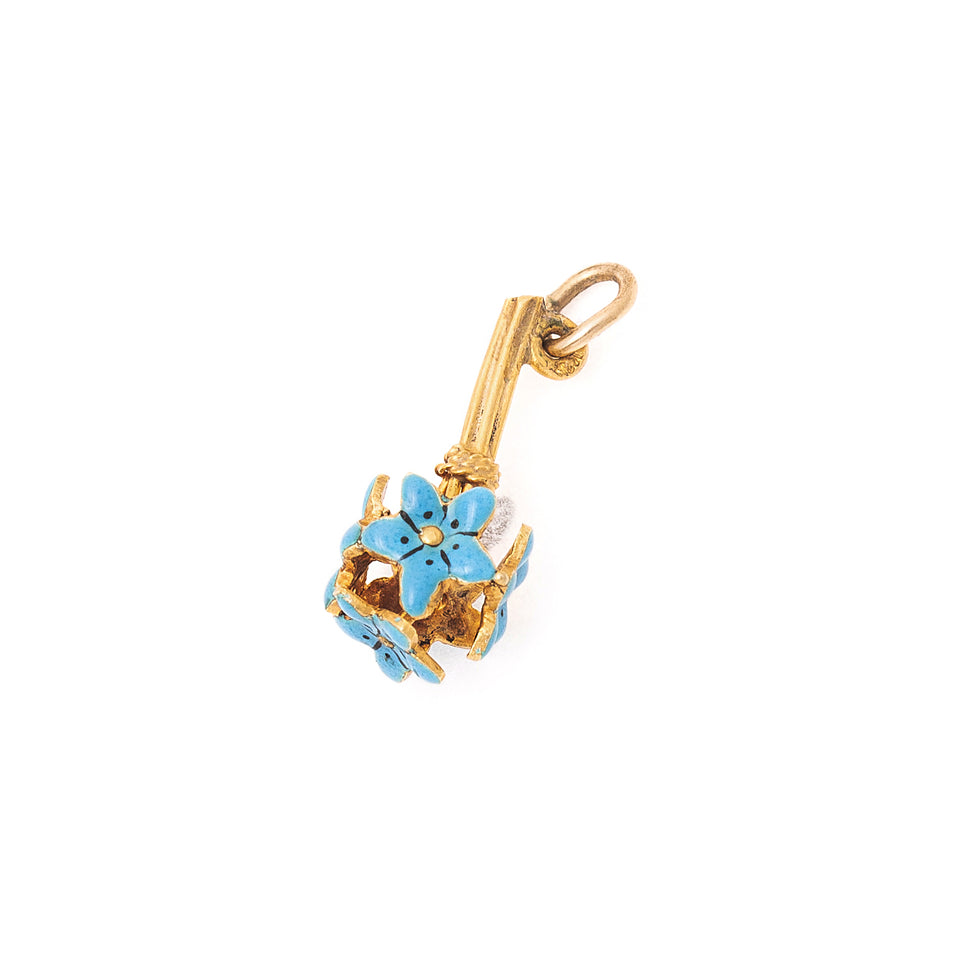 Forget-Me-Not 14k Gold And Enamel Charm